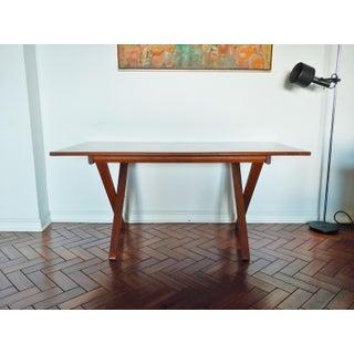 1960s Danish Modern Teak Adjustable Height Desk / Dining Table Preview