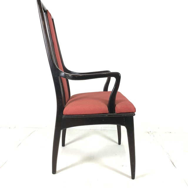 Mid-Century Modern Pair ofMahogany Parzinger Style Dining / Occasional Chairs by John Stuart For Sale - Image 3 of 12