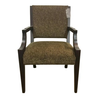 Vanguard Co. Transitional Leopard Print Arm Chair For Sale