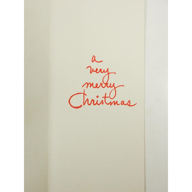Mid-Century Modern Christmas Cards - S/8 For Sale - Image 7 of 7