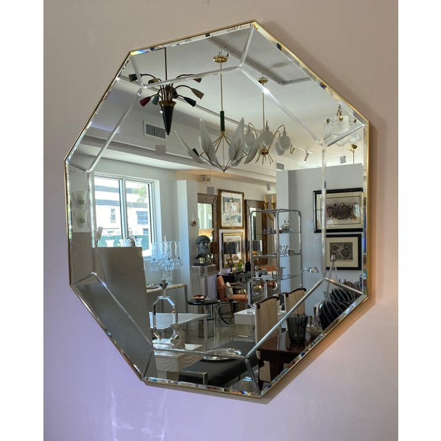 Silver Vintage La Barge Octagonal Mirror For Sale - Image 8 of 9