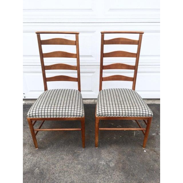 Vintage Nichols Stone Ladder Back Chairs A Pair Chairish