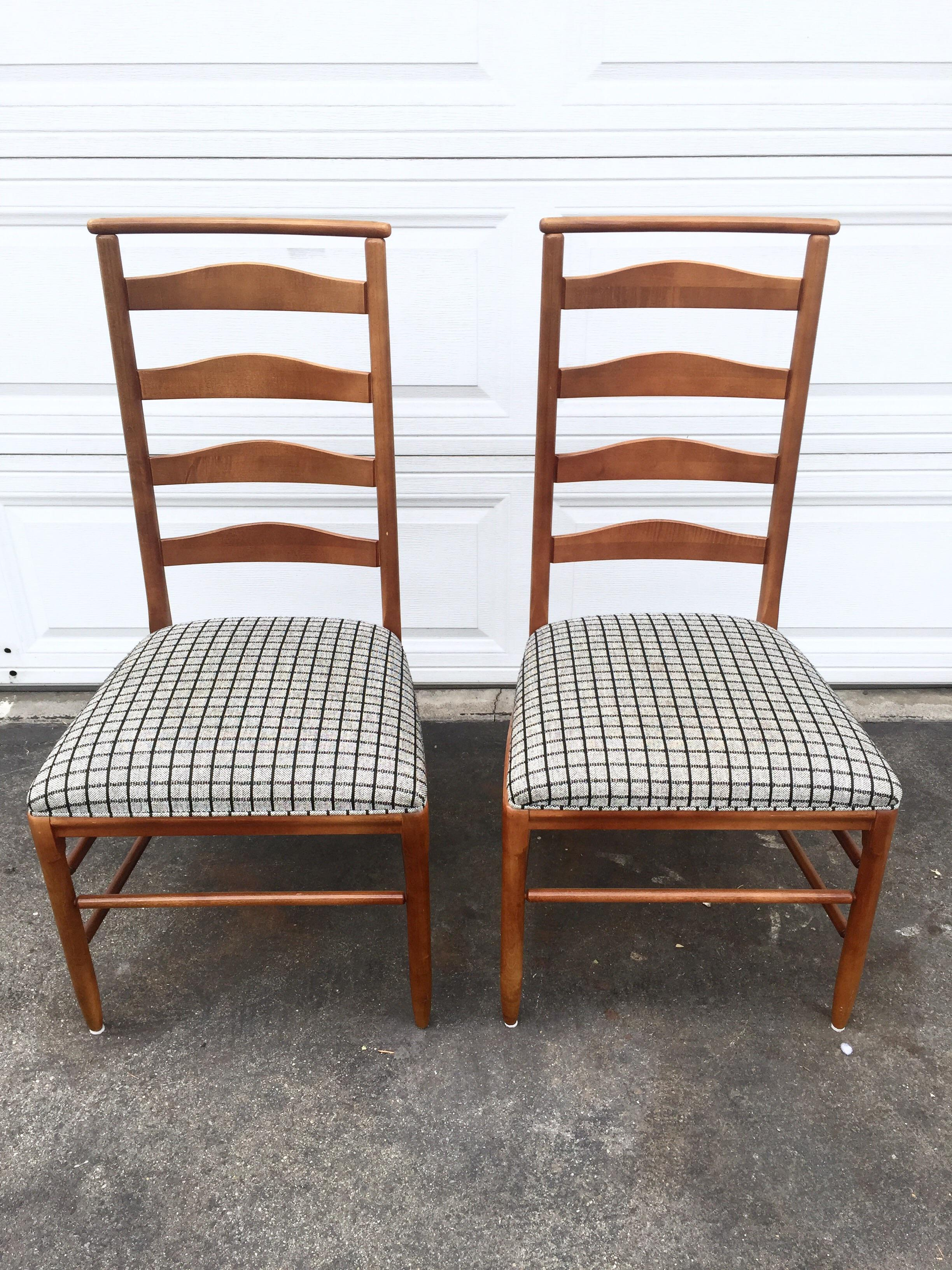 Vintage Nichols U0026 Stone Ladder Back Chairs   A Pair   Image 2 ...