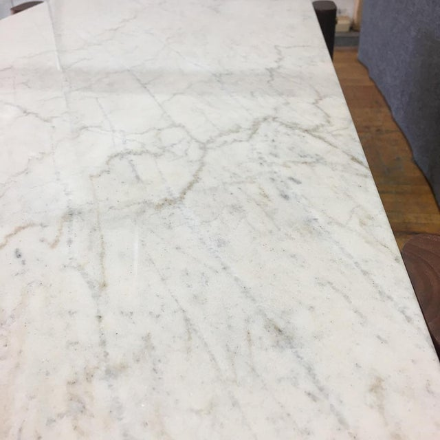 Walnut & Marble Coffee Table - Image 8 of 9
