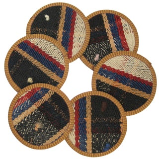Rug & Relic Varakçı Kilim Coasters - Set of 6