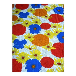 1980s Vintage Bloomcraft Cotton Upholstery Fabric, Scotchguard - 4 Yards For Sale