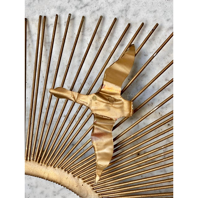 Mid-Century Brass Sunburst Birds in Flight Wall Sculpture by William Friedle For Sale - Image 9 of 13