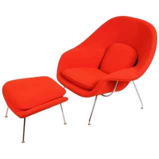 Eero Saarinen Womb Chair and Ottoman for Knoll For Sale
