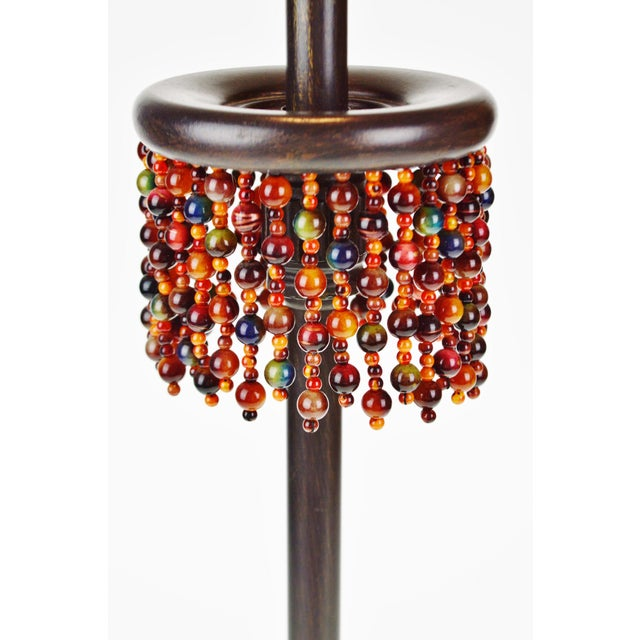 Metal Oil Rubbed Bronze Finish Beaded Candlestick Table Lamp For Sale - Image 4 of 7