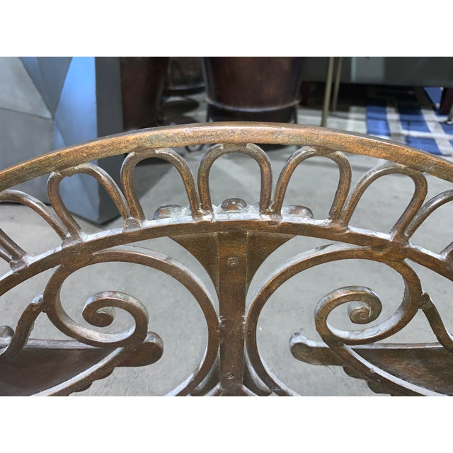 1960s Regency Style Bronzed Magazine Rack With Scrolled Design Lion Supports For Sale - Image 10 of 11