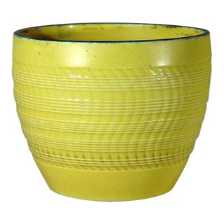 English Pottery Canary Yellow Pearlware Jardiniere For Sale