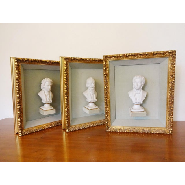 Framed Bust Portraits of Classical Composers - Set of 3 For Sale - Image 11 of 13