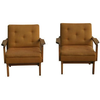 Gunlocke Walnut Chairs - a Pair