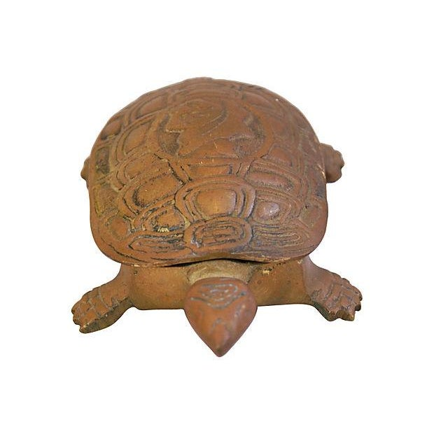 Mid-Century Brass Turtle Keepsake Trinket Box - Image 3 of 6