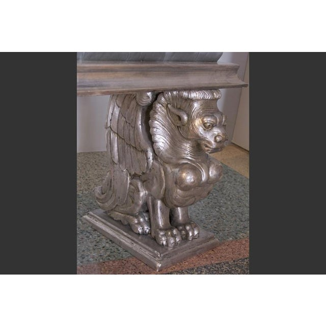 French 1920s French Carved and Gilded Gargoyle Bench For Sale - Image 3 of 4
