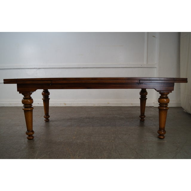 Rustic Farmhouse Style Refractory Dining Table - Image 2 of 10