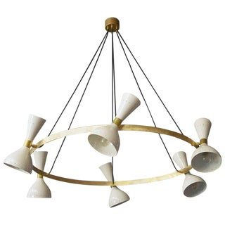 Stilnovo Style Monolith Chandelier For Sale