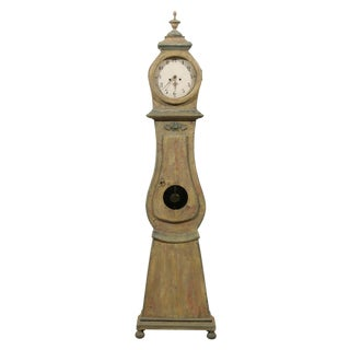 19th Century Swedish Wood Long Case/Floor Clock For Sale