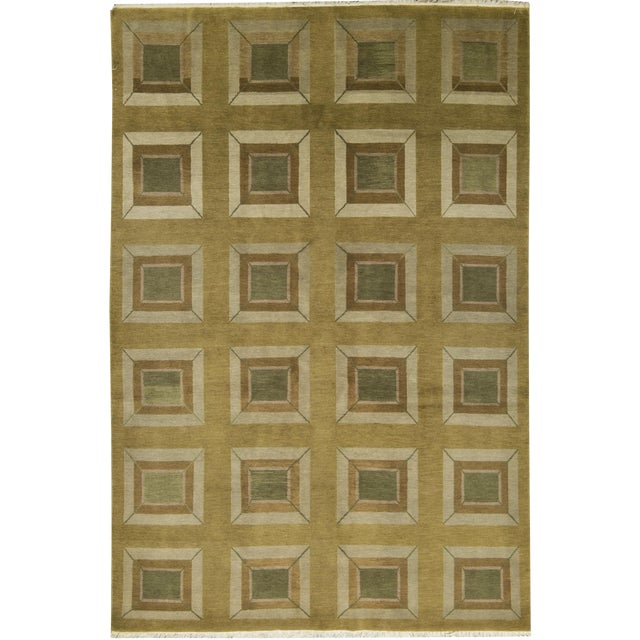 Contemporary Hand Woven Rug - 6' x 9' - Image 1 of 3