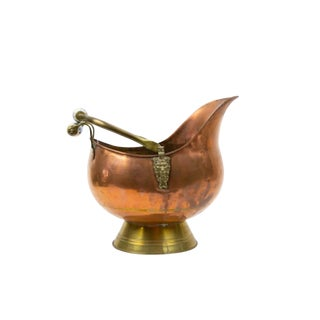 Vintage Copper Dutch Scuttle For Sale