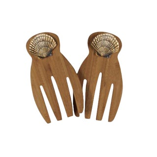 Bamboo & Brass Salad Claws - A Pair