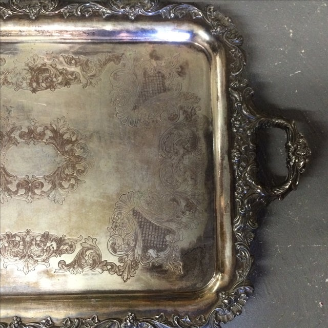 Silver Plate Tray - Image 3 of 7