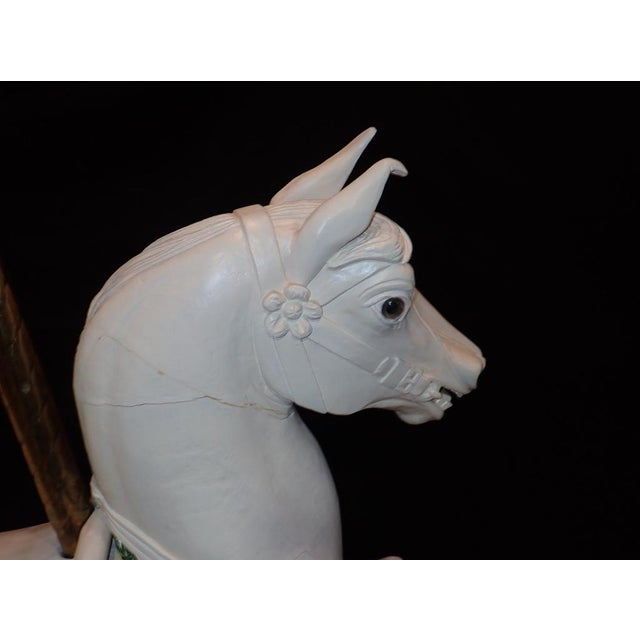 American Vintage Wooden Carousel Horse For Sale - Image 3 of 11
