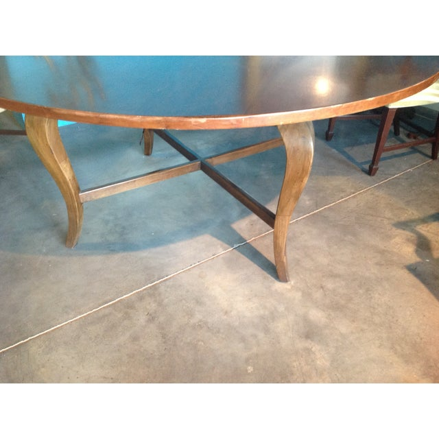 Antique Cherry Round Table - Image 3 of 6
