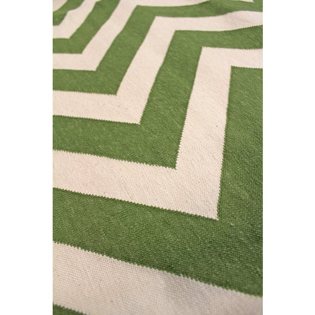 """Madeline Weinrib Green """"Lupe"""" Rug - 9' x 12' For Sale - Image 4 of 6"""