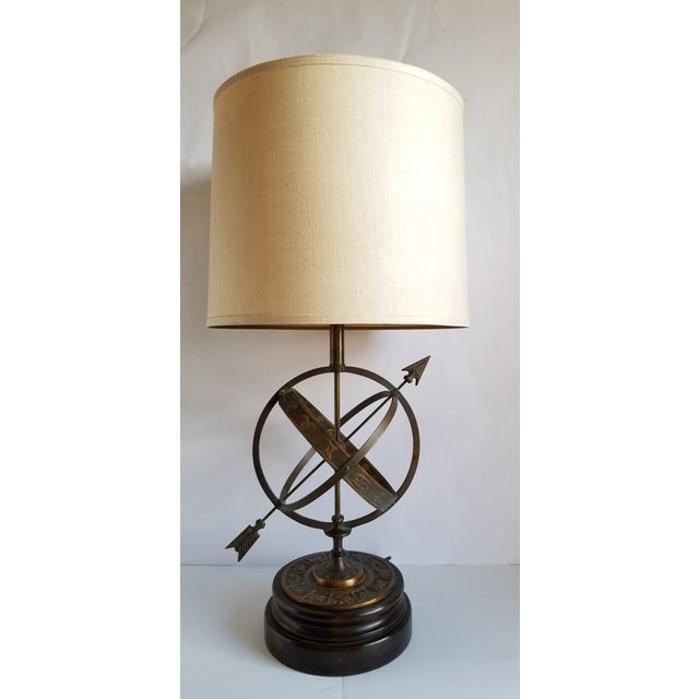 Mid Century Modern astrological armillary table lamp designed by Chicago based artist Frederick Cooper . This beautiful...