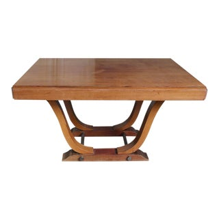 French 1940s Art Deco Style Rosewood Dining Table For Sale