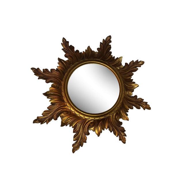Mid 20th Century Mid Century Gold Italian Sunburst Mirror For Sale - Image 5 of 6