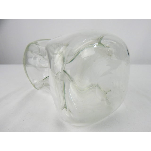 Glass Vintage Pinch Crystal Decanter For Sale - Image 7 of 8