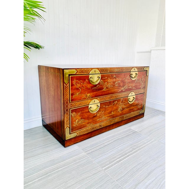 Chinoiserie Drexel Rosewood Chest of 2 Drawers For Sale - Image 13 of 13
