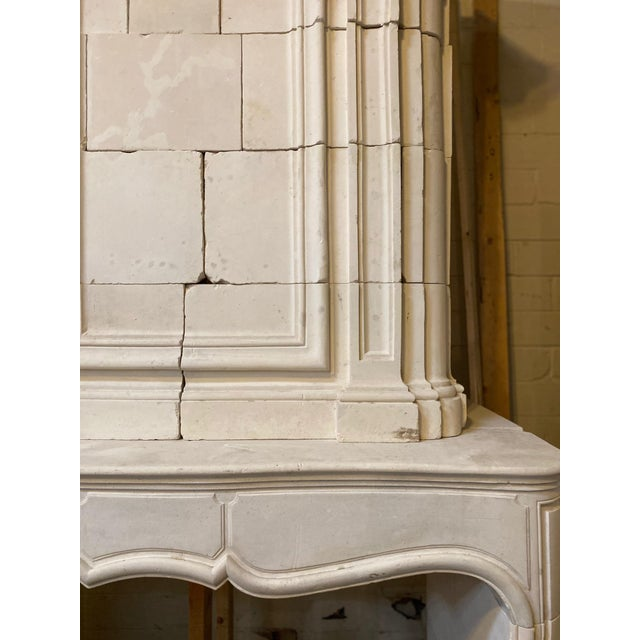 Antique Limestone Mantel with Trumeau For Sale In Dallas - Image 6 of 8