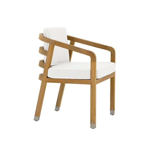 Summit Furniture Linley Dining Arm Chair For Sale - Image 4 of 4