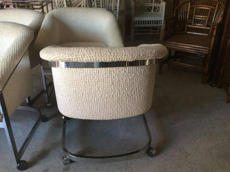 Milo Baughman Milo Baughman Chrome DIA Club Chair   Set Of 4 For Sale    Image