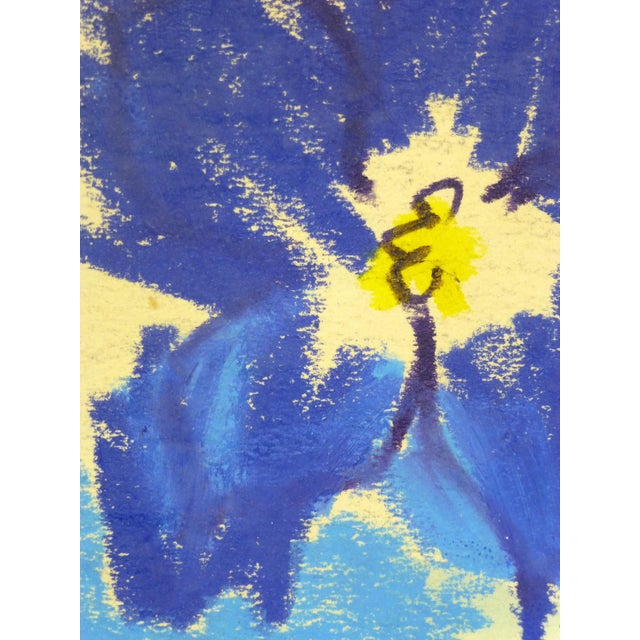 1970 French Indigo Blossom Drawing - Image 2 of 3