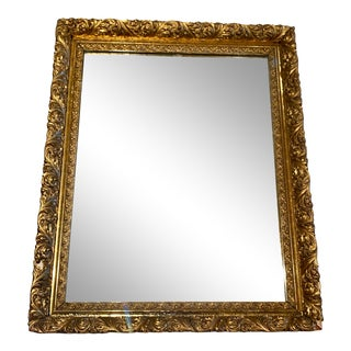 19th Century Gilt Wood and Gesso Framed Mirror For Sale