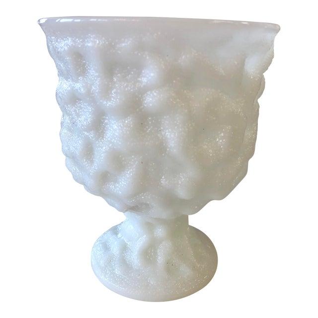 Vintage Eo Brody Milk Glass Urn Planter For Sale