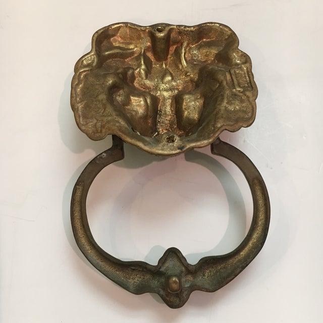 Vintage Brass Lion Head Door Knocker - Image 5 of 7 - Vintage Brass Lion Head Door Knocker Chairish
