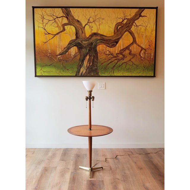 Rewired 1940s Edward Wormley Snack Table/Floor Lamp for Dunbar For Sale - Image 11 of 11