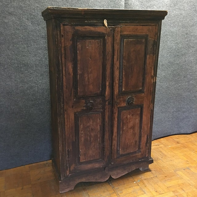 Refinished Antique Wooden Armoire - Image 2 of 10