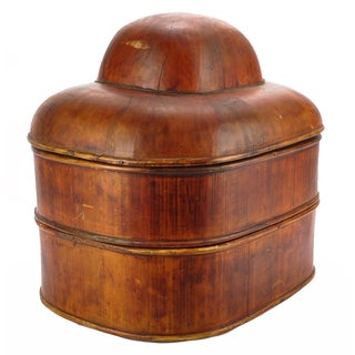 Antique Asian Stacked Hat Box For Sale