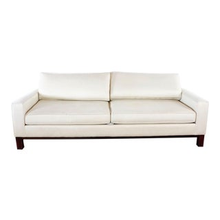 Room & Board White Upholstered Sofa For Sale