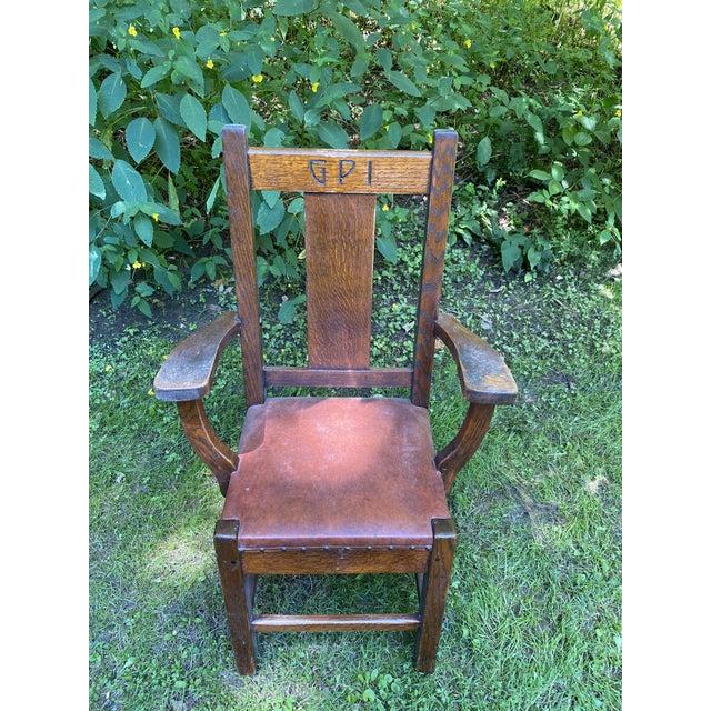 Wood 1900s Roycroft Grove Park Inn Chair For Sale - Image 7 of 7