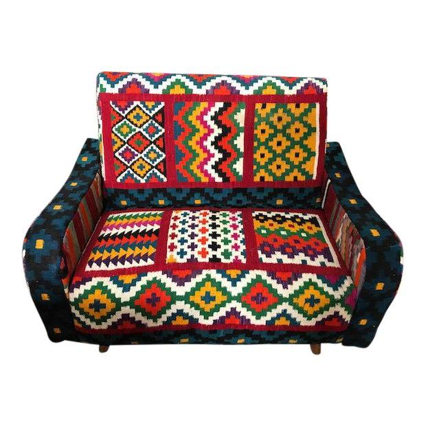 Fine Handmade Turkish Kilim Sofa Chairish Ibusinesslaw Wood Chair Design Ideas Ibusinesslaworg