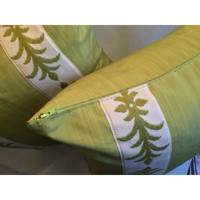 2010s Contemporary Pillow Covers in Clarence House Fabric - A Pair For Sale - Image 5 of 10