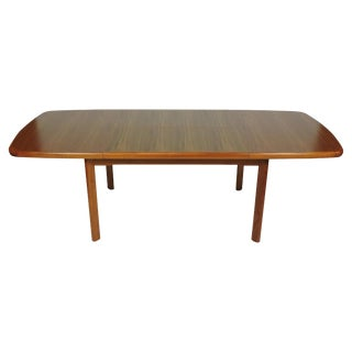 On Hold- Danish Modern Design Extendable Teak Dining Table With Butterfly Leaf For Sale