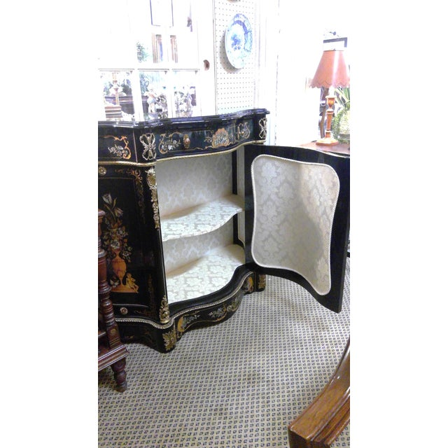 20th Century Italian Ebonized Mother of Pearl Cabinet For Sale - Image 6 of 11